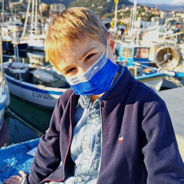 mascherine colorate per bambini