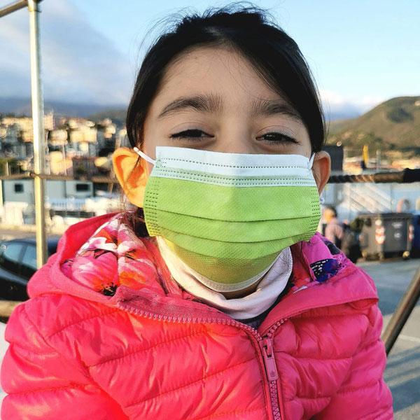 mascherine chirurgiche colorate per bambini