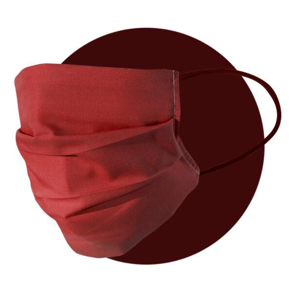 mascherine in tessuto rosso