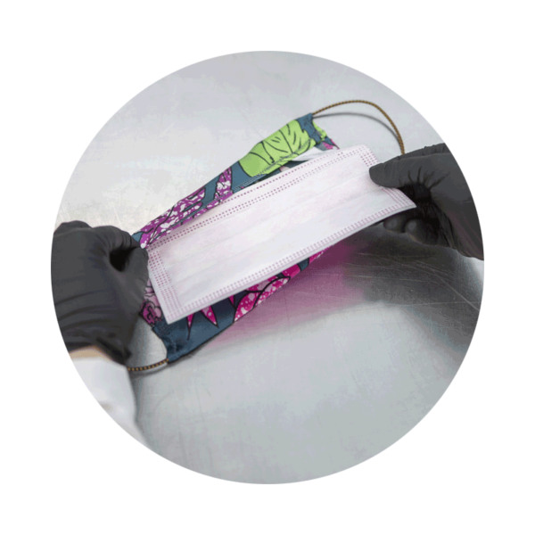filtro chirurgico per mascherine in tessuto