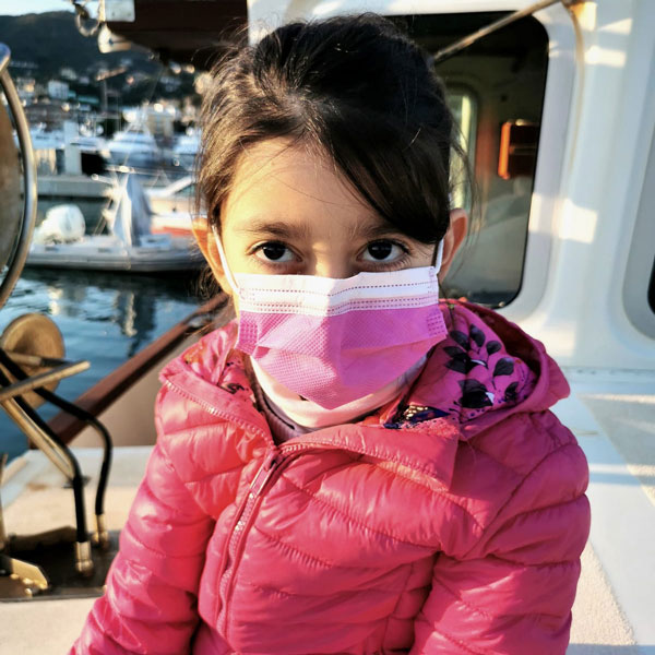 mascherine rosa per bambini