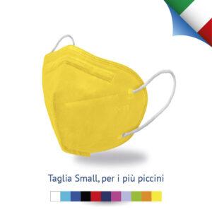 Mascherina FFP2 Futura Certificata Made in Italy colore giallo per bambini